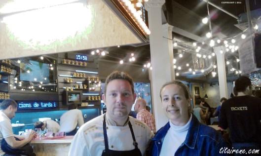 Chef Albert Adrià&Irene Morcillo (tita Irene) at Tickets Tapas Bar, April 2012