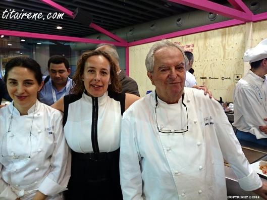 Chef Elena Arzak, Irene Morcillo (tita Irene) and chef Juan Mari Arzak