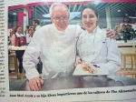 Arzak's pic at La Vanguardia newspaper captured me in the background