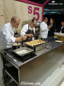Chef Thomas Stork heping out at Chef Dani García's showcooking