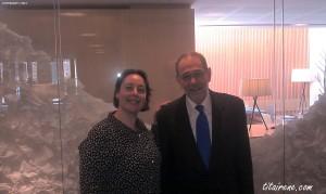 Irene Morcillo (tita Irene) & internationally renowned Spanish politician Mr. Javier Solana