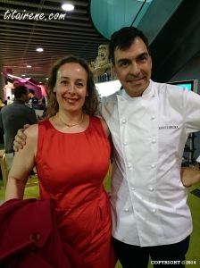 Chef Ramón Freixa, 2 Michelin stars chef at Ramón Freixa Madrid within Hotel Único Madrid & Irene Morcillo (tita Irene)