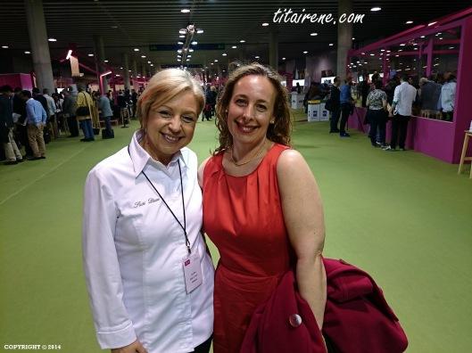 Chef Susi Díaz, 1 Michelin star (from 2006 to 2013 in a row) owner and chef of La Finca Restaurant in Elche (Valencian Community) & Irene Morcillo (tita Irene)