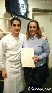 Pastry chef Josep Maria Rodriguez and  Irene at Hofmann's workshop learning to make his pastries